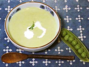 えんどう豆のポタージュスープ